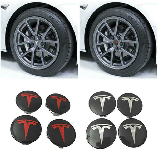 OEM Tesla Model 3 Aero Wheel Center cap 56mm*4pcs and lug nut covers kit
