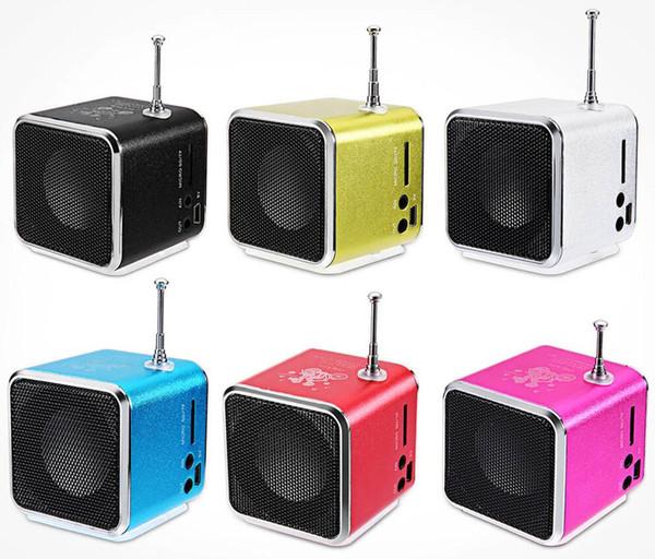 Bluetooth-Lautsprecher TD-V26 Mini-Lautsprecher Tragbarer digitaler LCD-Sound Mikro SD / TF FM-Radio Musik Stereo-Lautsprecher für Laptop-Handy MP3