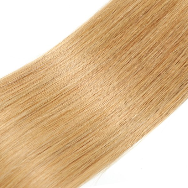 Brazilian straight hair Weave bundles honey blonde bundles 27 Honey blonde colro hair Human Hair Ombre bundles