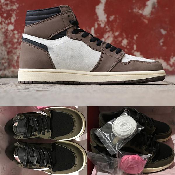 1 OG TS High Basketball-Schuhe aus Herren Chicago Travis x 1S Low SP Sneakers weiß Damen Designer Schuhe Trainer Luxus Sportschuhe Größe 36-46