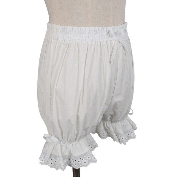 Sweet Cotton Lolita Shorts/bloomers With Lace Trimming Y190429