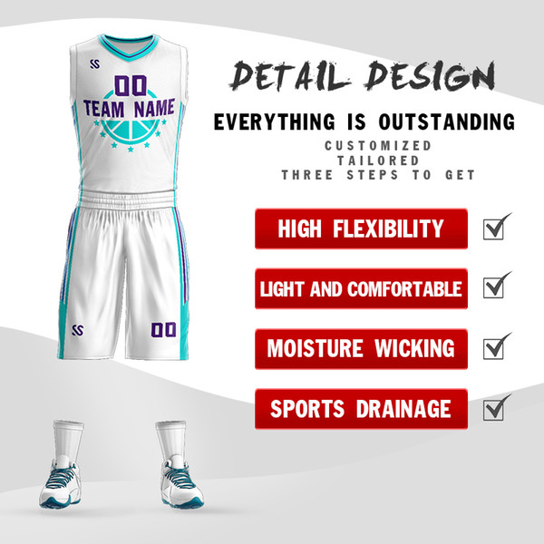 493af283603 Hornets new best quick-drying basketball jersey breathable custom-selling  casual style simple design