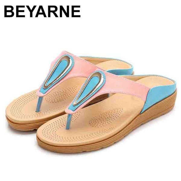 BEYARNEBohemian Chaussures à semelles plates et à la mode pour femmes à la mode