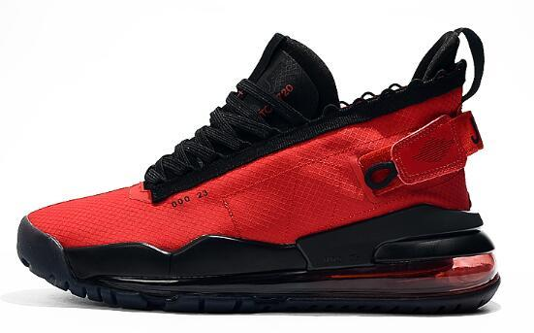 Nouveau Hommes Air AJ Proto Jumpman 720 chaussures de basket-ball vol rétro noir triple rouge blanc sur baskets bottes taille 7,0 à 12