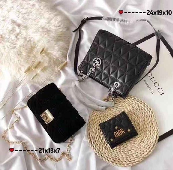 Paket (3 Beutel) Marke Tasche Paris Marke aus echtem Leder Handtasche Designer Einkaufstasche Umhängetasche Mode Clutch Taschen Geldbörse Geldbörse