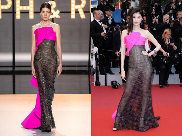 Ralph & Russo Black Beaded Celebrity Evening Dresses 2019 Strapless Sheer Skirt Sweep Train Plus Size Red Carpet Prom Party Gowns Cheap