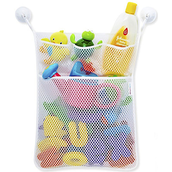 Home Baby Net Bath Tub Toy Storage Bag Bathroom Suction Hanging Mesh Organizer