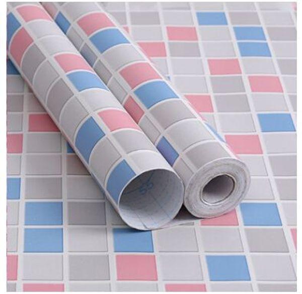 Atacado PVC treliça quarto papel de parede auto-adesivo cozinha banheiro impermeável e à prova de óleo papel de parede da cozinha