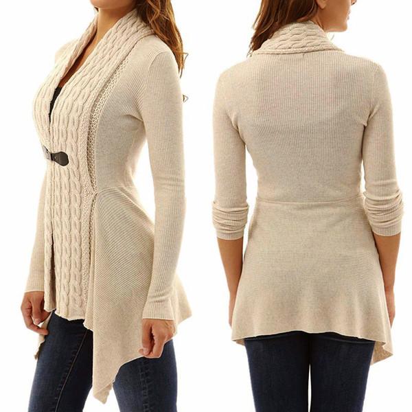 New Hot Fashion Women Long Sleeve Knitted Sweater Jumper Ladies Knitwear Cardigan Spring Autumn Coat Tops YAA99