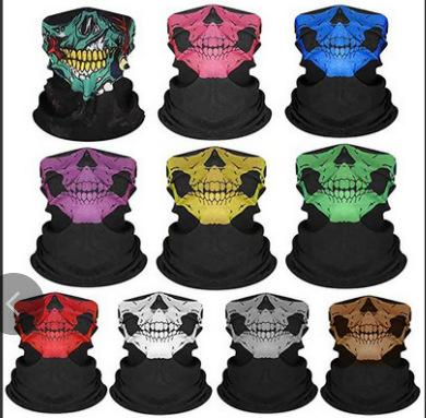 Outdoor seamless magic headscarf for men and women cycling headscarf face mask neck cover windproof and sunscreen neck