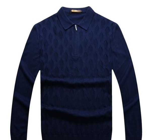 Wholesale ZILLI sweater men s clothing for autumn/winter 2017 new business casual embroidery British turtleneck sweater