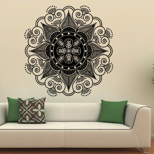 Home Decor Mandala Flower Indian Bedroom Wall Decal Art Stickers Mural Home Vinyl Family wall sticker Home Deco