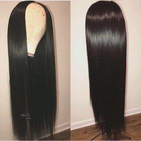 Parrucca della parte dei capelli umani u per le donne nere Parte centrale dritta con i capelli del bambino Parrucca pre-strappata Upart Parrucche peruviane Remy U Parte