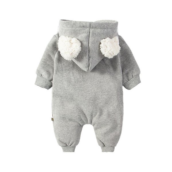 ... Adquisiciones Mamelucos para bebés recién nacidos 0-12 M Dibujos  animados lindo Elk Cremallera Con capucha Espesar Caliente Otoño Invierno  Unisex Mono 2af5a5d7bfa