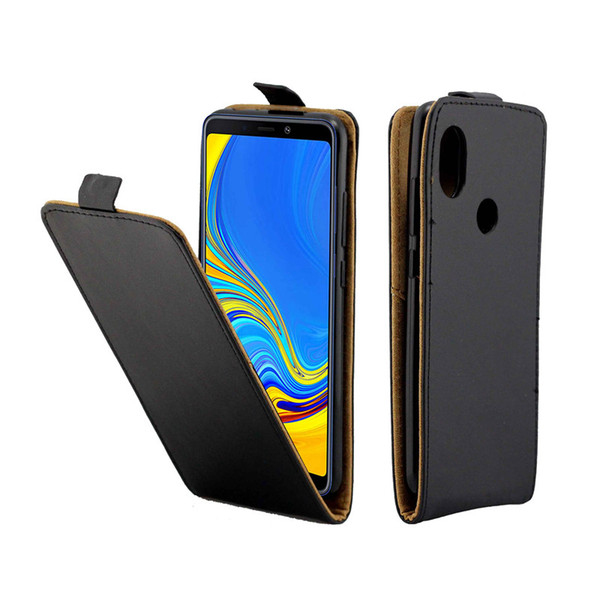 Business Leather Case For Samsung Galaxy A9 2018/A9S/A9 Star Pro Cases Vertical Flip Cover With Card Slot Mobile Phone Bags