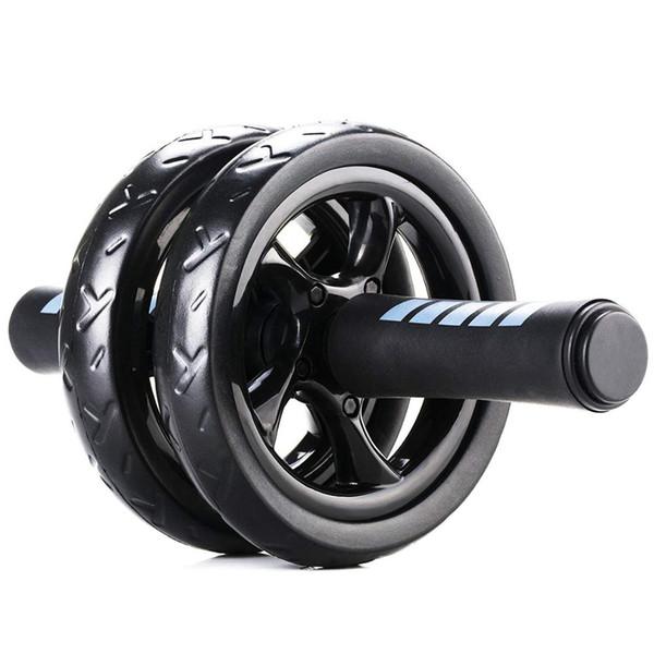 Abdominal Ab Rueda giratoria con tapete Sin ruido Músculo Rodillo abdominal de doble rueda Entrenamientos Abdominal Fitness Equipo de ejercicio