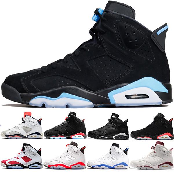 Siyah 2019 Kızılötesi 6 s Erkekler Basketbol Ayakkabıları 6 Tinker Unc Siyah Kedi Carmine Gatorade Toro Maroon Ucuz Atletik Eğitmen Spor Sneaker