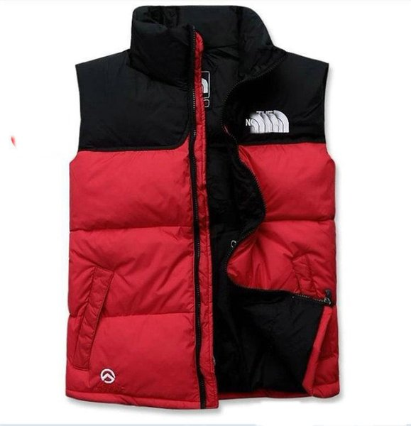 best selling Hot 2019 men DOWN winter down jacket North Polartec vest Male Sports Hooded Jackets Bomber Collar With Zippers Outdoor face Coats
