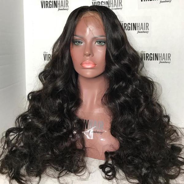 Подгонянные парики человеческих волос 10A для чернокожих женщин Brazilain перуанский большой Bodywave Loosewave полные парики шнурка и парики фронта шнурка