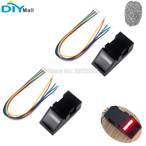2pcs / lot Optique Module D'empreinte Digitale Lecteur Capteur Capteur Contrôle De Porte De Contrôle D'accès pour Arduino Mega2560 UNO R3