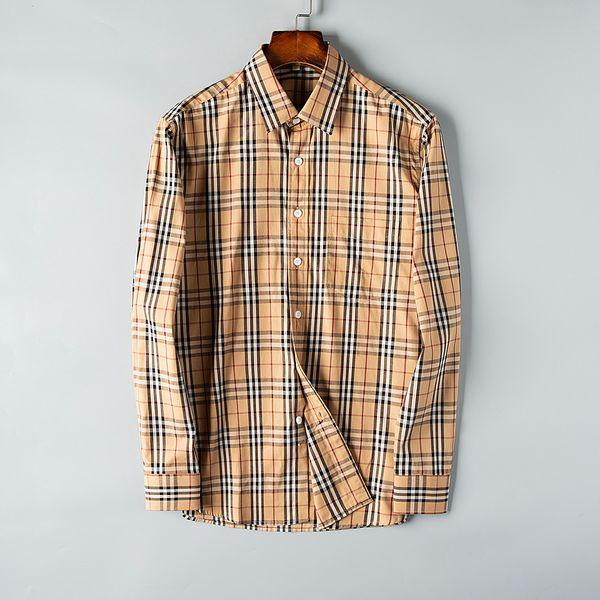 2019 New Slim Fit Long Sleeve Hot Sale Fashion Shirts Casual Chemise Homme Luxury Mens Designer Dress Shirts Blouse Plus Size S-3XL