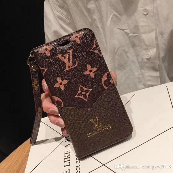 Processo de costura para iphone xs max flip capa de couro carteira phone case design da marca iphone xs xr x 7 7 plus 8 8 plus 6 6 plus capa