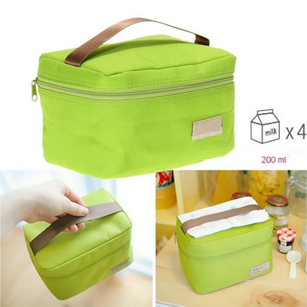 Portable Food Insulated Lunch Bags Organizer Thermal Bento Lunch Box Bags Kids Picnic Outdoor Waterproof Lunch Food Bag D19010902