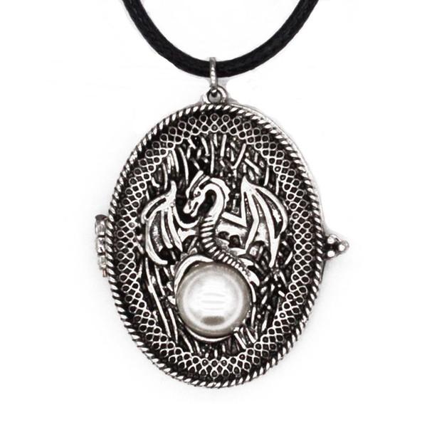 L'Europe et les États-Unis boîte de motif de perles de dragon de jeu de puissance gothique peut ouvrir l'aimant pour mettre collier de corde neutre