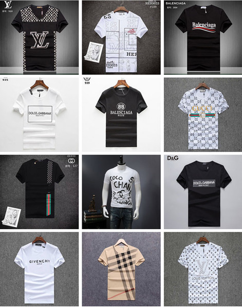Marka Erkek T Gömlek Yaz Moda Baskı Short Sleeve Tees Erkek Casual Kazak T-Shirt İnce Erkekler Hip Hop Pamuk # 2272 Tops