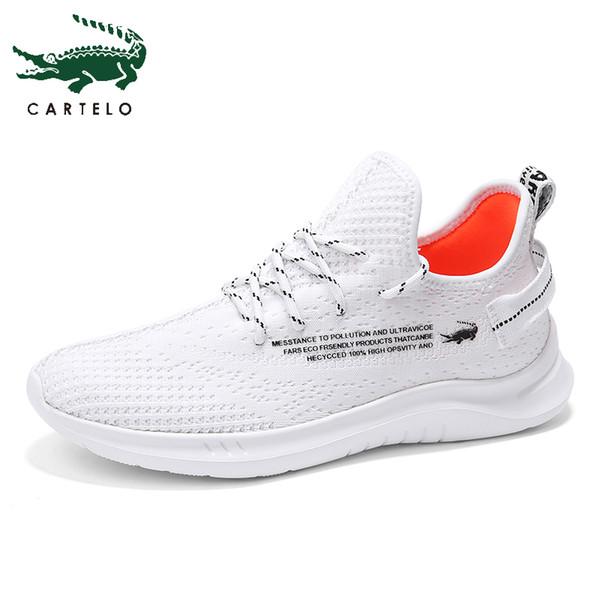Acheter CARTELO Chaussures Légers Baskets Casual Hommes Chaussures Sport Baskets Blanc Respirant Doux Confortable Mode Simple De $42.36 Du Bking  