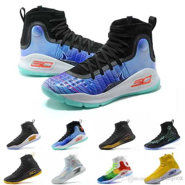 new concept f9b5d 4bfa0 Wholesale UA Stephen Curry 4 Men Basketball Shoes Gold Championship MVP  Finals Sports Sneakers Trainers Outdoor Designer Shoes 1298306 001 Shaq  Shoes ...