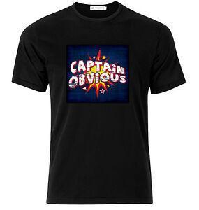 Captain Obvious - Camiseta de algodón con gráfico, manga corta y larga