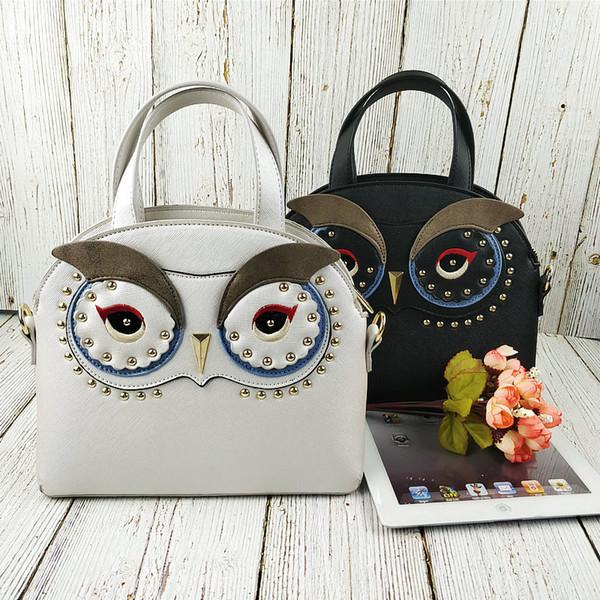 2019 Women Owl Style Bags ART Shoulder Bag for Girl Retro Handmade Bolsa Feminina Messenger Bags Ladies Stylish Crossbody