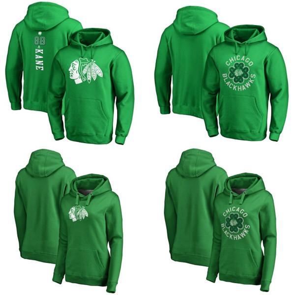 official photos 15a80 d5e96 Chicago Blackhawks Green St. Patrick'S Day Luck Tradition Pullover Hoodie  17 Dylan Strome 50 Corey Crawford 91 Drake Caggiula Hockey Jerseys UK 2019  ...