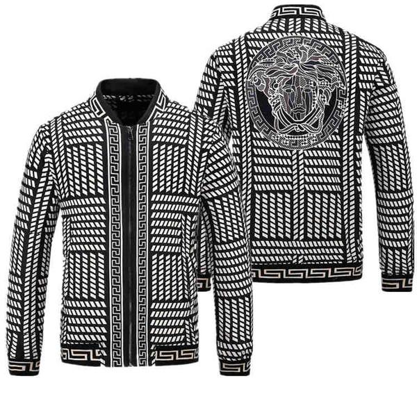 2018 High quality men's camouflage windbreaker jacket Paris designer printed jacket jacket autumn and winter hooded snake windbreaker