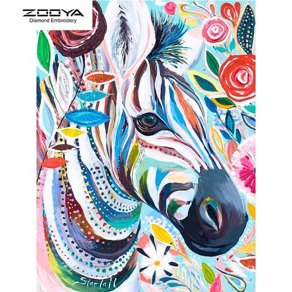 ZOOYA DIY 5D Volle Runde Diamant Malerei Stickerei Diamant Mosaik Ölgemälde Zebrakreuzstich Wohnkultur