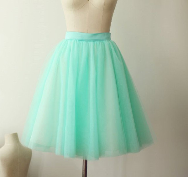 Mint Green Tulle Skirt Skirts Short Tulle skirt Prom Skirts Bachelorette TuTu Lady Formal Skirts match All the Occasions TS0010