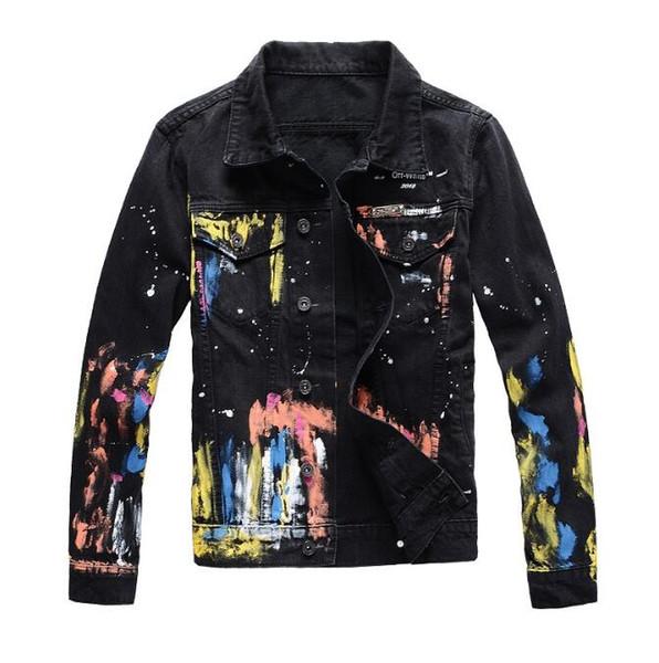 Wholesale Fashion Mens Denim jacket Mens Denim Coats Casual Motorcycle biker jeans Slim denim jacket Coats Free Shipping