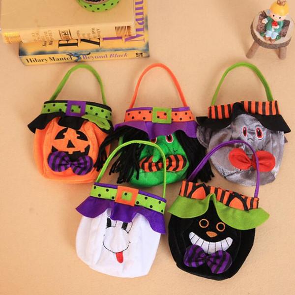 Хэллоуин тыква ведро мультфильм вампир черная кошка призрак ведьма сумки хэллоуин конфеты мешок ну вечеринку подарок конфеты сумки GGA2508