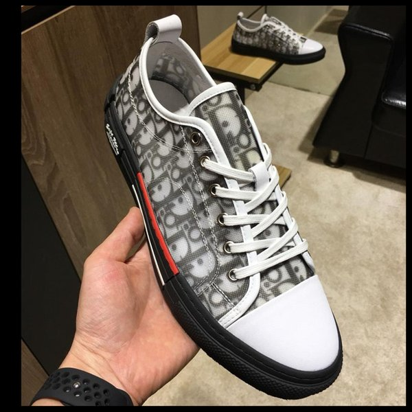 2019 new high quality sports shoes, rubber soft bottom, men's outdoor travel skate shoes, a generation of original box packaging