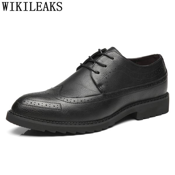 zapatos brogue hombres coiffeur hombres zapatos formales elevador de cuero en punta erkek ayakkabi calzado hombre sipriks
