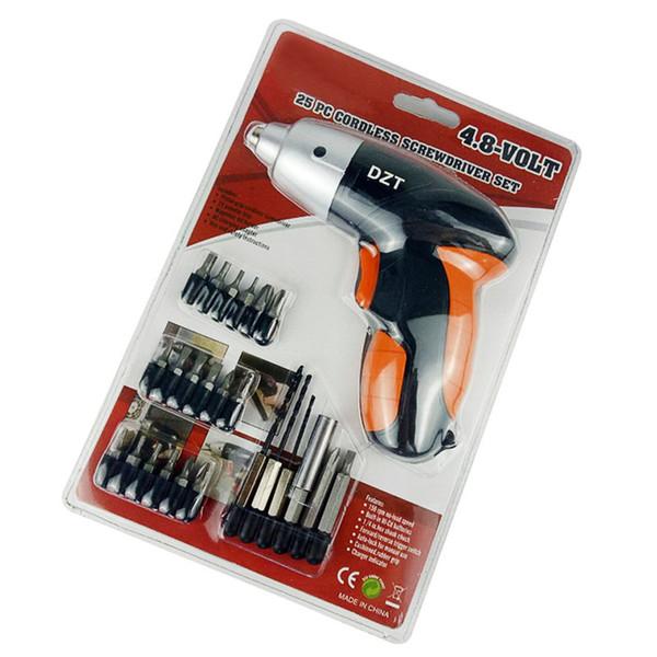 Electric Mini Drill Kit Electric Screwdriver with 18 Screw Bits Pistol Grip Tail Strap Universal Househeld Power Tools EU Plug