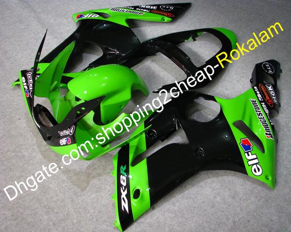 Carenado de motocicleta para motocicleta Kawasaki Ninja 636 ZX-6R ZX6R 2003 2004 ZX 6R 03 04 Motocicleta Body Fit para motocicleta (moldeo por inyección)