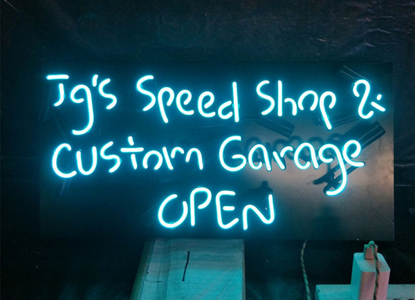 Acrylic Board Jg's Speed Shop & Custom Garage OPEN Neon Sign Light Wall Advertising Entertainment Decoration Display 17'' 24'' 30''40''