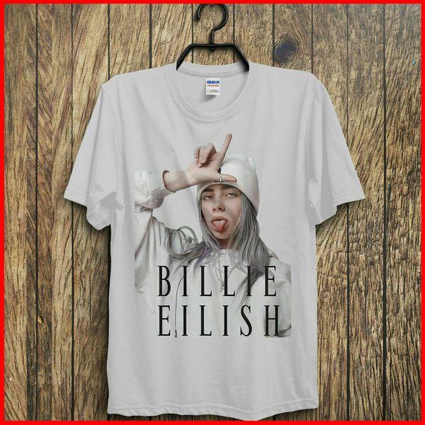 Camiseta caliente de Billie Eilish Camiseta de los fans de Billie Eilish Camiseta blanca de algodón para hombres