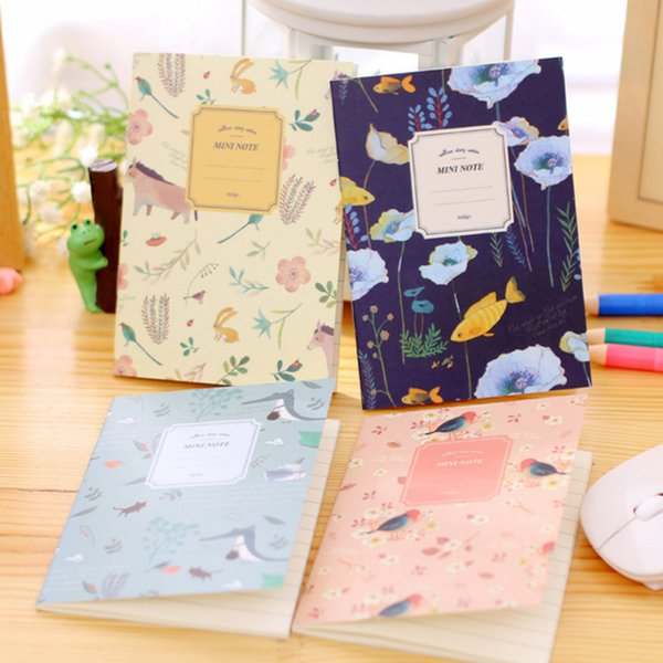 8pcs/set Cute Mini Vintage Flower Notebook Lovely Animal Notepads For Kids Gifts Korean Stationery School Supplies