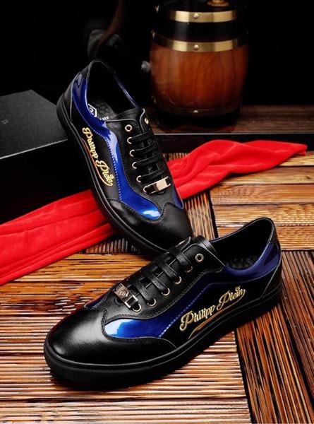 2019r nuove scarpe firmate da uomo italiane scarpe casual e scarpe sportive in pelle scamosciata scatola di lacci sportivi di design casual a strisce verdi, taglia 38-45