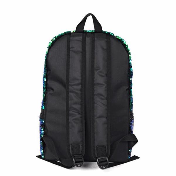 Unisex Backpack Boys Girls Fashion Glitter Sequins Backpack Large Capacity Solid Color Travel Bag Schoolbag Packs