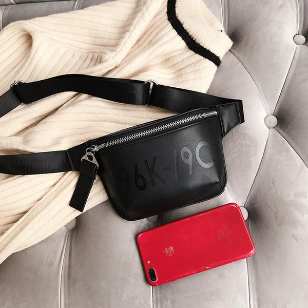 Las mujeres paquete de la cintura Bolsas Fanny Pack Cinturón Pequeño Vintage 2018 Verano Playa PU Pecho Bolsas Diseñador