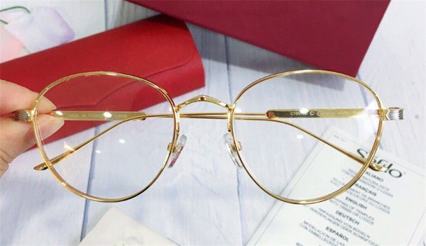 top popular new men designer frame round shape gold plated retro vintage style Ca 0016 unisex outdoor style prescription optical 2019